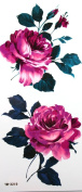 GGSELL YiMei Waterproof tattoo sticker blooming red rose flowers