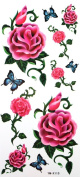 GGSELL YiMei Waterproof tattoo sticker colour flowers sexy red roses