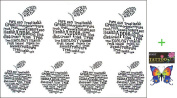 2012 latest new design new release Tattoo sticker waterproof APPLE Apple fake tattoo