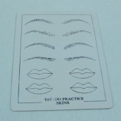 Tattoo Practise Skin Synthetic Skin Eyebrows and Mouths Pattern