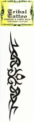 Temporary Tattoo - Armband & Lower Back Tribal Tattoo