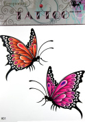 GGSELL KING HORSE Large size 30cm x 22cm Inches 2 colourful butterlies new big design fake tattoos stickers