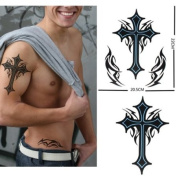 GGSELL Extra large size cross totem temporary tattoos 22cm x 20cm Inches""