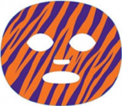 The Gameface Company Sport Face Tiger Orange Purple Temporary Tattoo Sticker