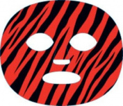 The Gameface Company Sport Face Tiger RED and Black Team Temporary Tattoo Sticker
