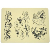 Beginner Tattoo Practise Skin Synthetic Skin-like Lotus Goldfish Pattern for Needle Supply