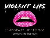 Violent Lips The Pink Polka Temporary Lip Appliques - Set of 3