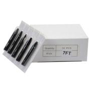 50Pcs Disposable Sterilised Tattoo Nozzle Tip Flat Tip - 2.1m