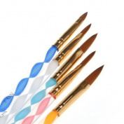 5x 2 Ways Acrylic Nail Art Design Brush Drawing Pen Manicure Cuticle Pusher