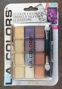 L.A. Colours Expressions, 12 Colour Eyeshadow, BEP425 Urban, 15ml