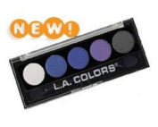 L.A. Colours 5 Colour Metallic Silky Smooth Eyeshadow Palette