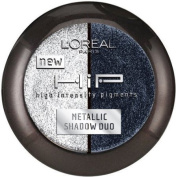 Loreal Hip Metallic Shadow Duo Platinum 906 New Colour, 2 Ea
