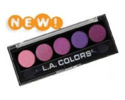 L. A. Colours 5 Colour Metallic Eyeshadow 106 Lollipop