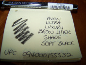 AVON ULTRA LUXURY BROW LINER IN SHADE SOFT BLACK