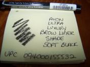 AVON ULTRA LUXURY BROW LINER IN SHADE SOFT BLACK