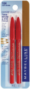Maybelline New York Expert Wear Twin Brow and Eye Pencils, 104 Light Brown, 0ml