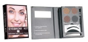 QT Perfect Eyebrow Kit For Everyone With Stencil Set, Brush Mirror and Tweezer