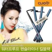 Clio Waterproof Pencil Liner Kill Balck #1-Black