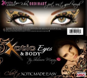 "Xotic Eyes ""Cheetah"" Eye Card Eye Pastie Makeup Accessory"