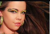 Xotic Eyes Flower Glitter Professional Eye Make up Costume Accessory
