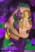 Mardi Gras Eye Face Makeup Kit