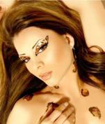 Xotic Eyes Cheetah Glitter Professional Eye Make up Costume Accessory