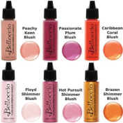 Belloccio Airbrush Makeup Colourful Colours Blush Set 6-Pack of Half Ounce Bottles