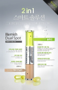 KOREAN COSMETICS, CNP Laboratory_ Blemish Dual Spot.(Concealer 3.5ml +Skin soothing solution 3.5ml), (Trouble Skin available 2in1 smart solutions, skin-soothing, natural cover, sebum control, skin-soothing, low irritation)[001KR]