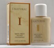 I Natural Matte Finish Oil-Free Foundation - Cream Beige