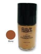 The Rave Cosmetics Liquid Foundation Ebony 30 ml