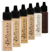 Belloccio Medium Colour Shades Airbrush Makeup Foundation Set