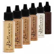 Belloccio Tan Colour Shades Airbrush Makeup Foundation Set