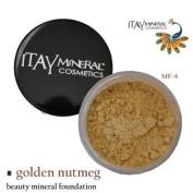 Itay Beauty 100% Natural Mineral Foundation Colour :Mf-4 Golden Nutmeg+ Longlasting Black Eye Liner
