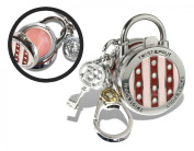 Twist and Pout Stripes and Dots Lock Charm with Pink Shimmer Gloss, Citrus, 40ml