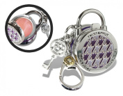 Twist and Pout Purple Maze Lock Charm with Pink Shimmer Gloss, Citrus, 40ml