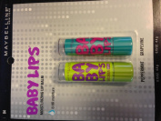 Maybelline Baby Lips Moisturising Lip Balm LIMITED EDITION 2 Pack - Peppermint / Grapevine