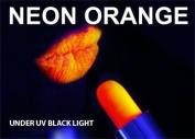 ORANGE Neon Black Light UV Lipstick , cream stick Theatrical , Rave Lip stick