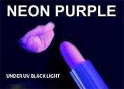 PURPLE / VIOLET Neon Black Light UV Lipstick , cream stick Theatrical , Rave Lip stick