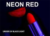 RED Neon Black Light UV Lipstick , cream stick Theatrical , Rave Lip stick
