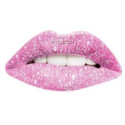 Passion Lips Temporary Lip Tattoo Wraps Includes 2 Applications - Pink Glitter
