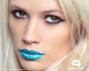 Violent Lips - The Blue Glitteratti - Set of 3 Temporary Lip Appliques