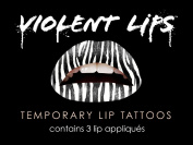 Violent Lips The Zebra Temporary Lip Appliques - Set of 3