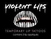 Violent Lips The Zebra Temporary Lip Appliques - Set of 3