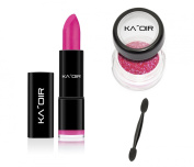 "KA'OIR By Keyshia KAOIR ""MISTRESS"" Hot PINK Lipstick GLITZSTICK Glitter Set"