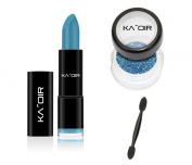 "KA'OIR By Keyshia KAOIR ""Pool Party"" Turquoise Blue Lipstick GLITZSTICK Glitter Set"