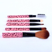 Cosmetic Brush Kit 5 Pcs Makeup Brush Travel Set Princessa - Pink