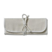 8-Pocket Roll & Tie Brush Pouch, Natural