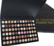 Ml Collection NEW!!! Get All in One 72 Colours Eye Shadow Palette Nude Warm Neutral + FREE 5 Piece Mini Goat Brush Set.
