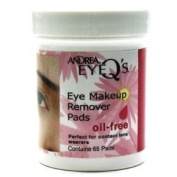 Andrea Eye Q's Oil Free Eye Makeup Remover Pads, pack of 3