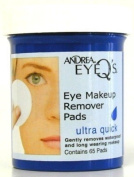 Andrea Eye Q's 65's Ultra Quick Eye Makeup Remover Pads